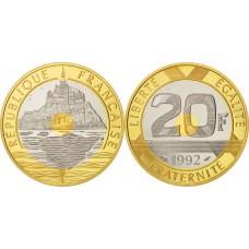 Mont Saint Michel - 20 Francs Or BE