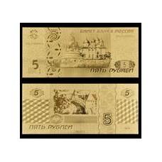 Reproduction billet 100 Dollars US - Doré or fin 24 carats