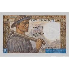 10 FRANCS - Mineur et Paysanne - 1941-1949 - Etat SUP