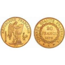 GENIE DE LA BASTILLE -1848/1849 - 1871/1898  - 20 FRANCS OR