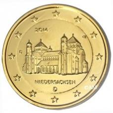 Allemagne 2014 - 2 euro commémorative Eglise Saint Michel dorée à l'or fin 24 carats