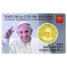 Vatican 2014 : Coincard euro Pape François