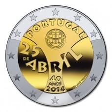 Portugal 2014 - 2 euro commémorative Révolution des œillets