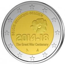 Belgique 2014 - 2 euro commémorative 100ème anniversaire 1ère guerre mondiale