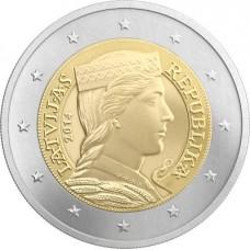 Lettonie 2014 - 2 euro Milda