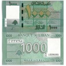 P.90 liban - Billet de 1000 livres